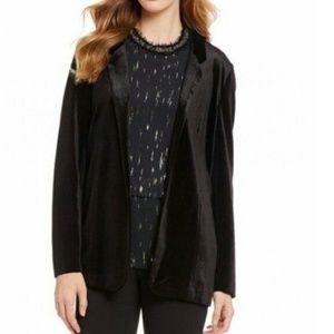 Gibson & Latimer Plus Size Open Velvet Blazer
